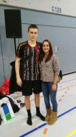 Yesim mit Raphael Beck Länderspiel Deutschland-England 2015